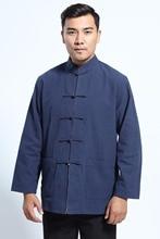 Shanghai Story chemise à manches longues vêtements traditionnels chinois mélange de lin Tang costume col mandarin veste réversible 2 couleurs