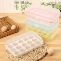 3pcs 15 Cells Egg Storage Box Fridge Storage Box Egg Shatterproof Storage Box Case Eco-Friendly Easy Use Kitchen Accessories