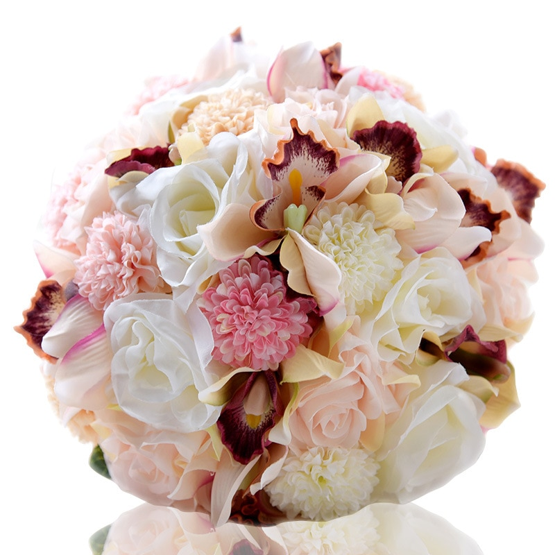 Романтический Искусственный Свадебный букет Bruidsboeket для невесты slik цветочный букет для девочек Букет de mariage