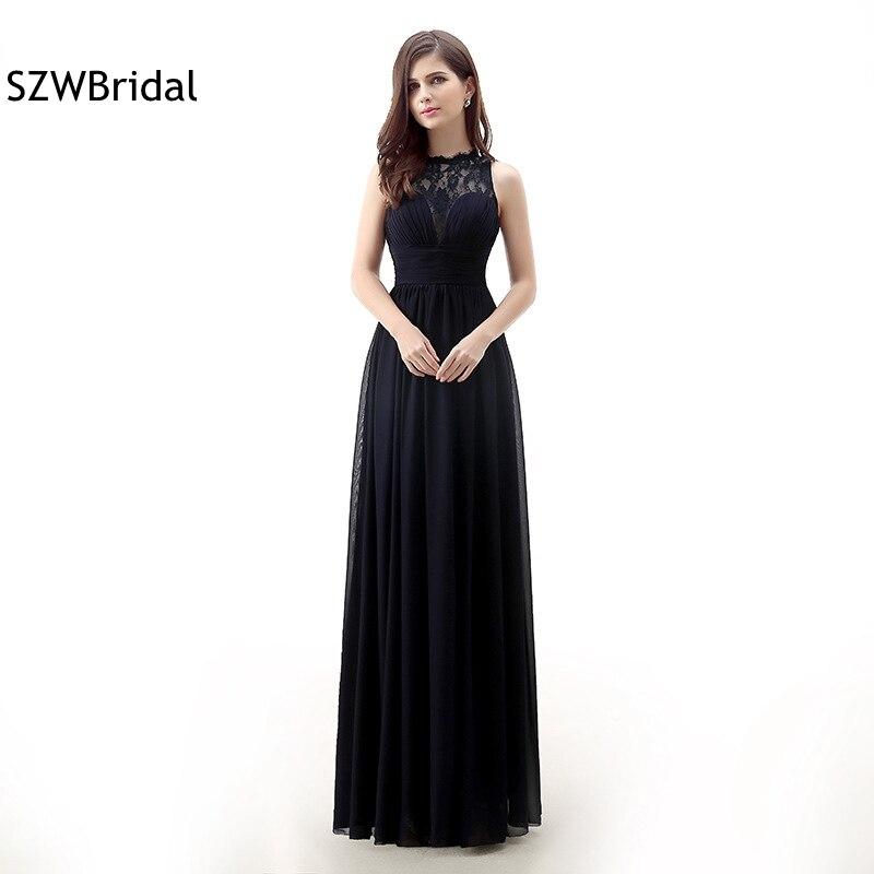 فستان وصيفة العروس من الشيفون ، مجموعة جديدة ، أسود ، دانتيل ، وصيفه الشرف ، مجموعة جديدة