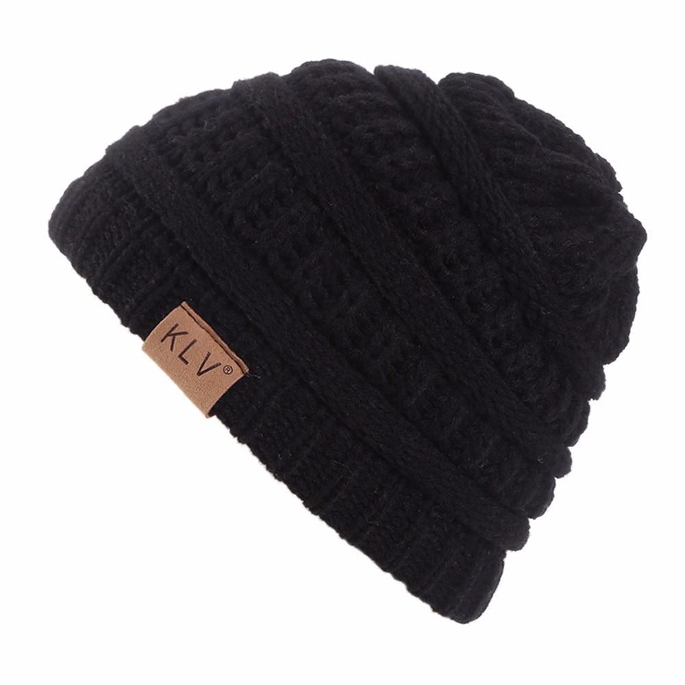 #5 DROPSHIP 2018 nueva moda Unisex niño niñas cálido Crochet invierno lana gorro de tejido para esquiar gorro, gorro holgado, gorros sombrero envío gratis