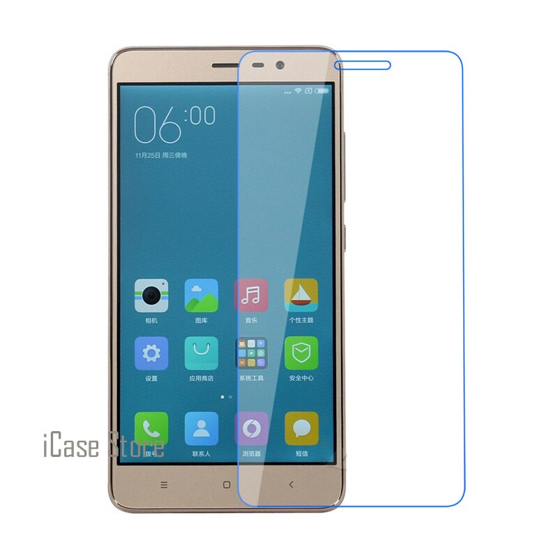 Cristal templado frontal de teléfono dureza 2.5D 0,26mm 9H para Xiaomi Xioami...