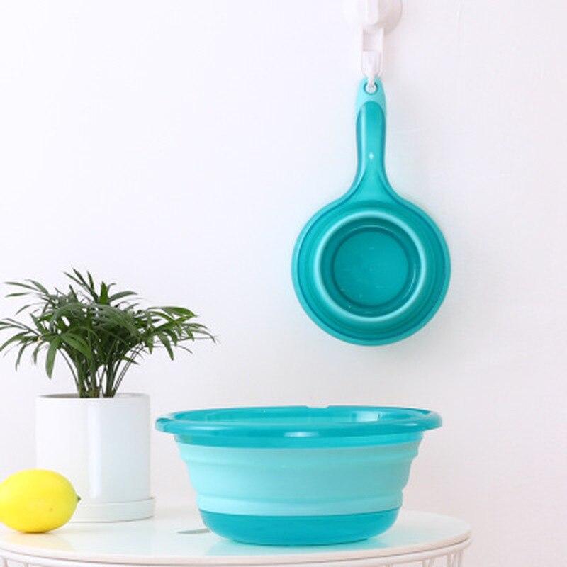Cuchara de agua plegable portátil, cuchara para agua de cocina, cuchara para agua plegable con mango grande, herramientas de cocina, cuchara para agua plegable