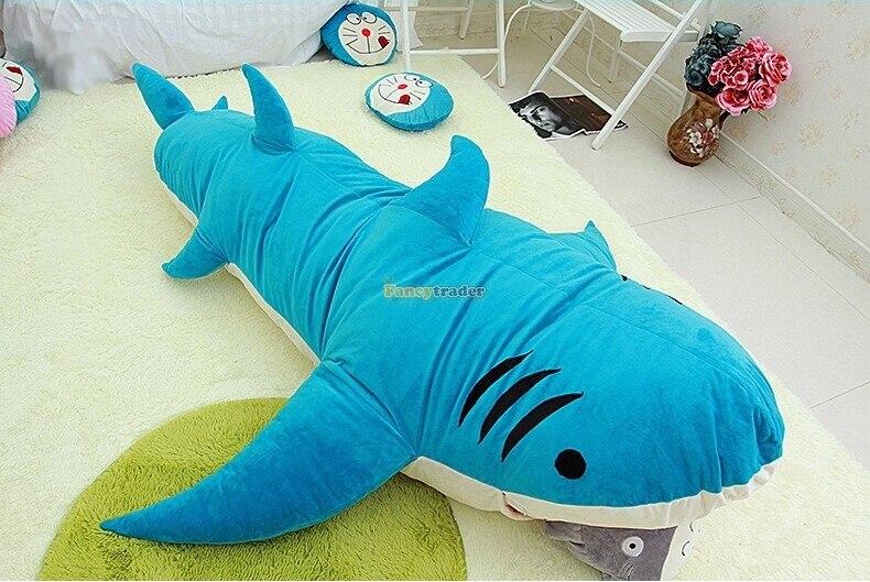 Fancytrader جديد نمط عالية الجودة القرش 200 سنتيمتر X 140 سنتيمتر ضخمة العملاق القرش السرير السجاد أريكة حصير ، 2 الألوان! شحن مجاني FT90358