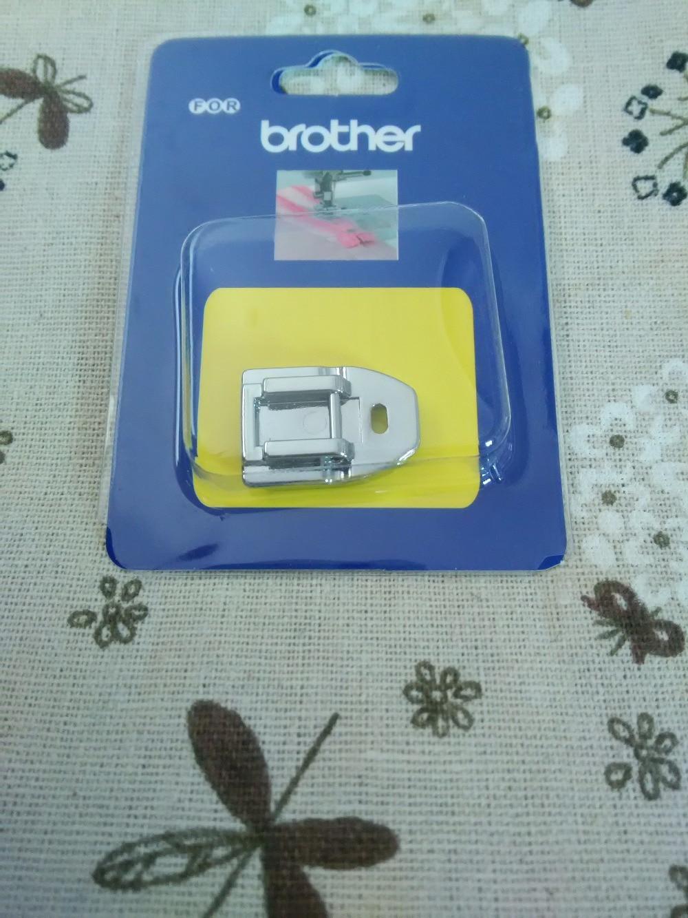 Máquina de costura doméstica parts calcador XC1947-002 Para O Irmão/Invisible Zipper Pé