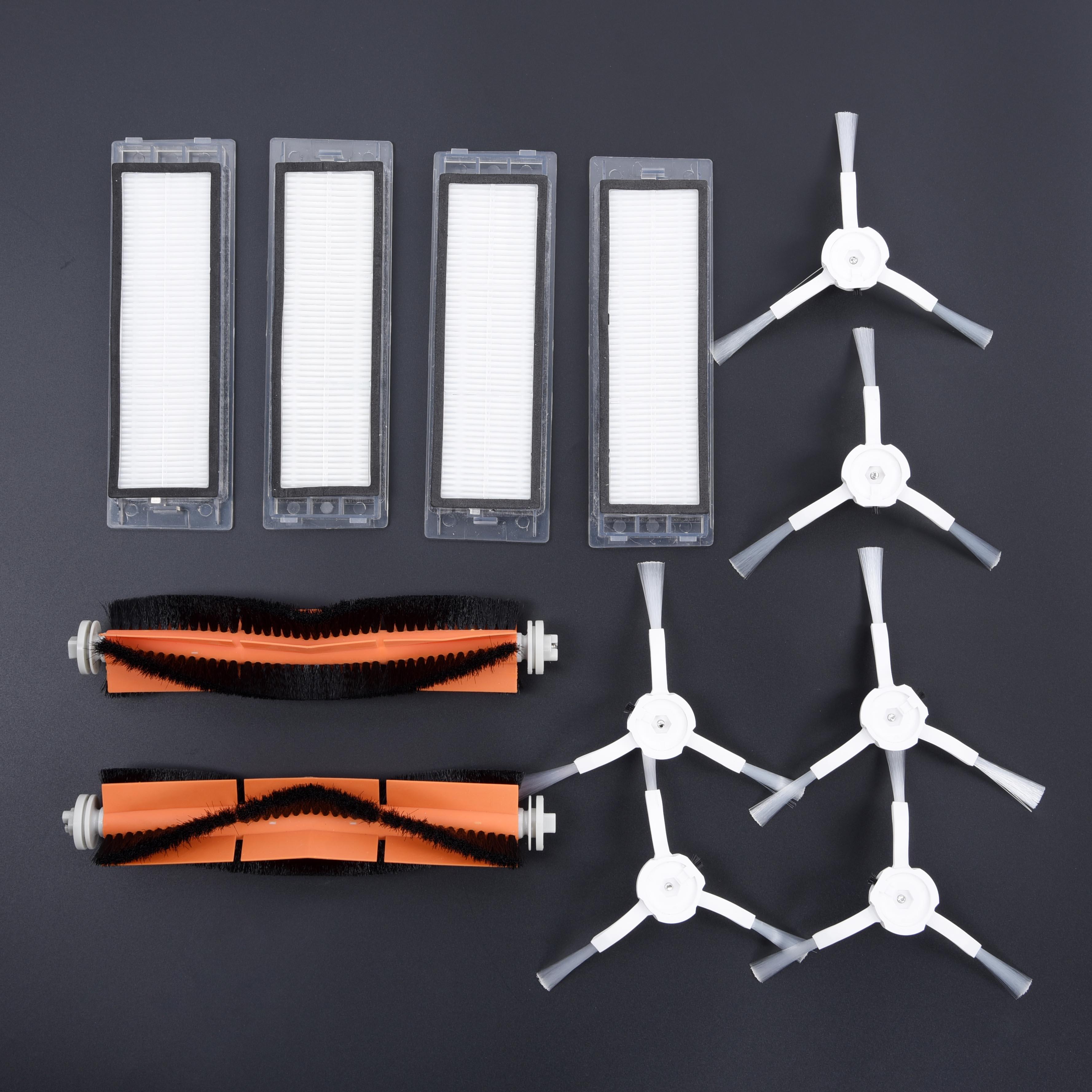 12 Uds. Filtro limpiador Vacum juegos de cepillos accesorios para Xiaomi Roborock S50
