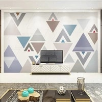 home decor living room custom any size mural wallpaper colored geometric pattern tv backdrop bedroom photo wall paper 3d