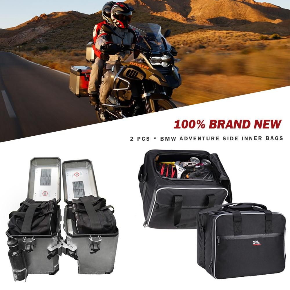 KEMiMOTO-حقيبة أمتعة للدراجات النارية ، حقائب داخلية قابلة للتوسيع PVC لدراجة BMW F1250GS ADV 2013-2017