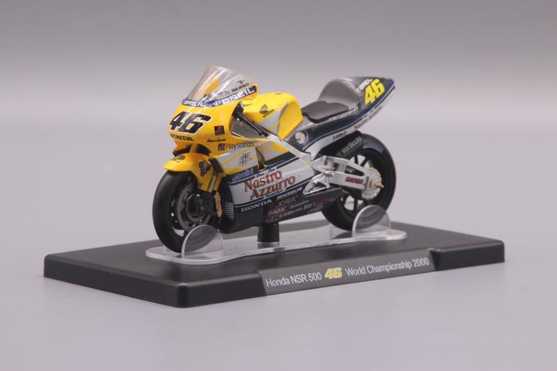 Leo 118 Honda NSR 500 2000, para motocicleta de aleación, modelo de coche, juguete de Metal fundido a presión, regalo de cumpleaños para niños