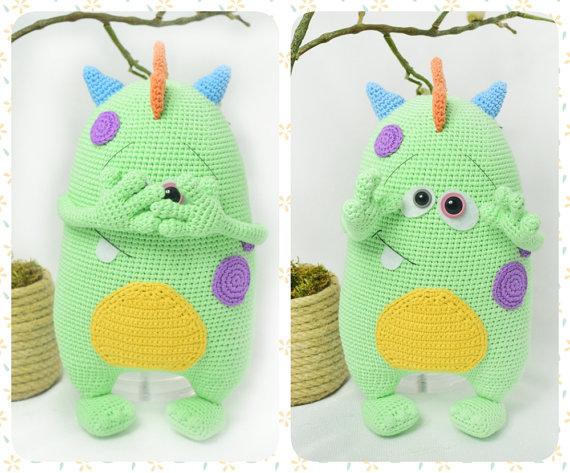 Crochet amigurumi monstruo kuboo
