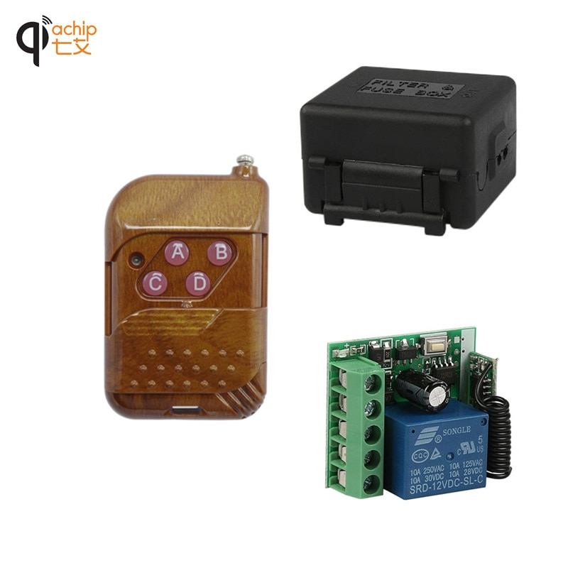 Универсальный беспроводной Радиочастотный пульт дистанционного управления, 433 МГц, 12 В, 10 А, 1CH релейный модуль приемника и 433 МГц пульт диста...