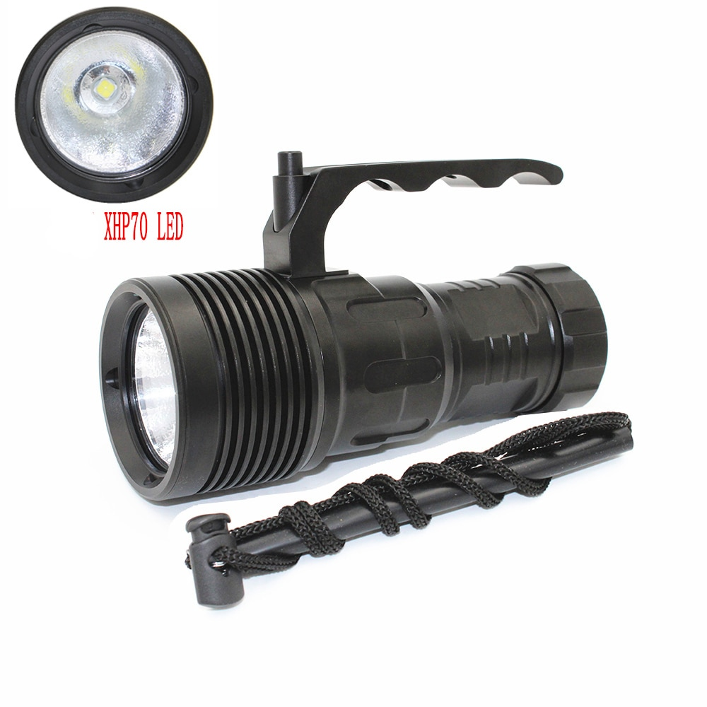 4000 Lumens XHP70 Diving Flashlight Professional Underwater 100M Waterproof Lamp Aluminum LED Torch Light Power by 4x 18650 enlarge
