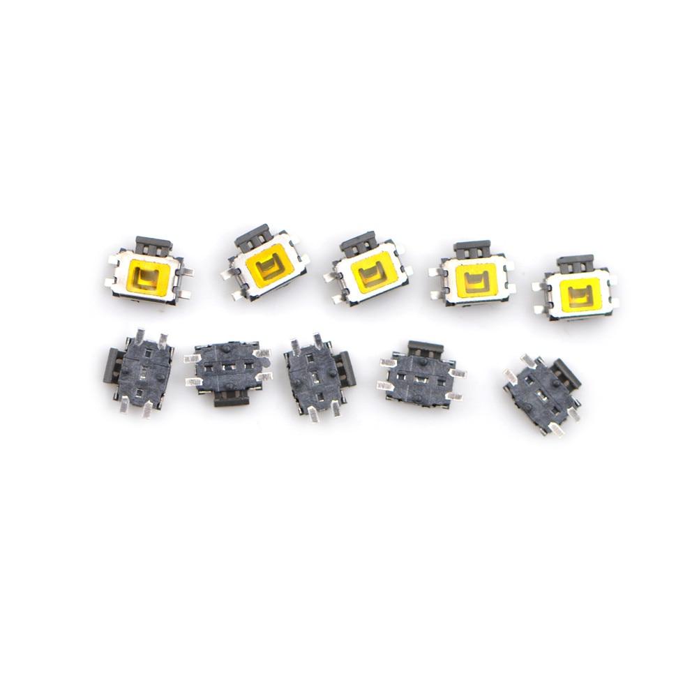 10 unids/lote 4 Pin SMT lado SMD Tact botón táctil interruptor de montaje
