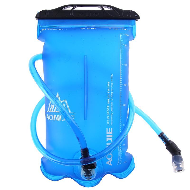 1,5/2/3L bolsa de agua TPU plegable al aire libre Camping senderismo ciclismo correr deporte hidratación bidón bolsa de agua cepillos limpiadores de tubos
