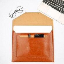 11 13 Inch Sleeve Case Lederen Laptop Tas Voor Macbook Air 11.6 ''Pro 13.3'' Universele Notebook Pouch Cover draagbare Hand Tas