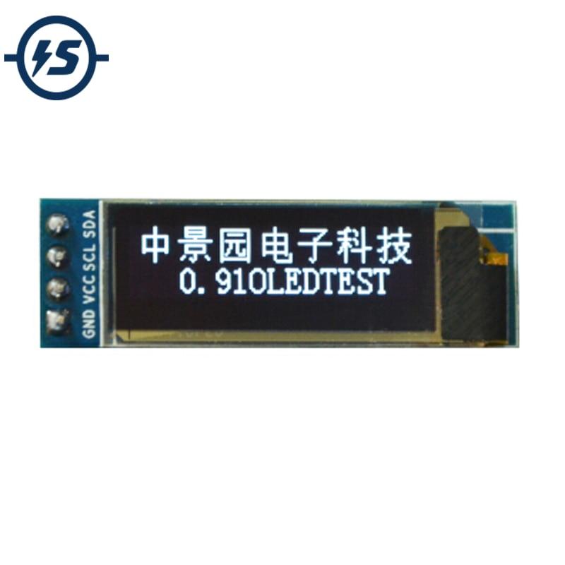 "OLED LCD Display Modul 0,91 zoll 128x32 I2C IIC Serien Weiß 0.91 ""12832 SSD1306 LCD Bildschirm für arduino"