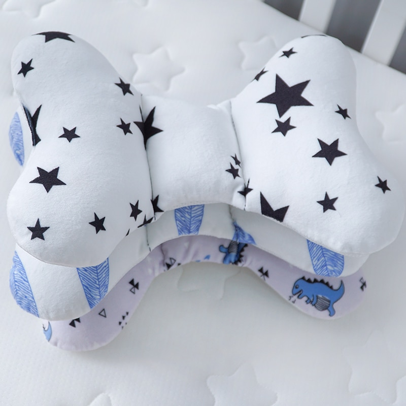 Muslinlife Cotton Car Seat Baby Pillow Infants Baby Head Support Pillow Sleep Kids Cushion Pillows Anti-Static Dropship