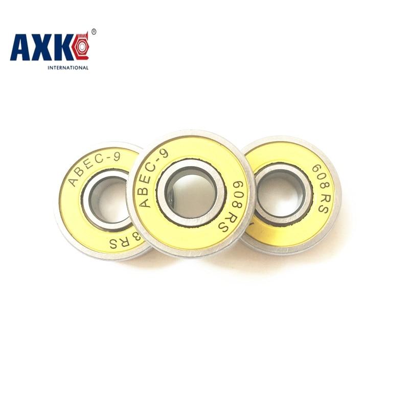 Подшипники для скейтборда, для роликовых коньков 6082rs, 22*8*7 мм, желтые резиновые уплотнения, бесплатная доставка, ABEC-9