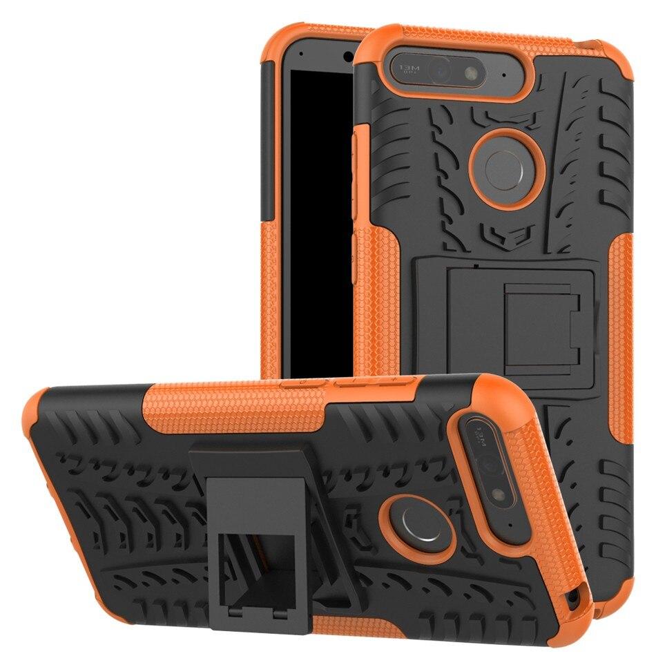 2 en 1 armure Style étui pour Alcatel A3 3L 2020 couverture arrière Coque lourde PC + Silicone Fundas