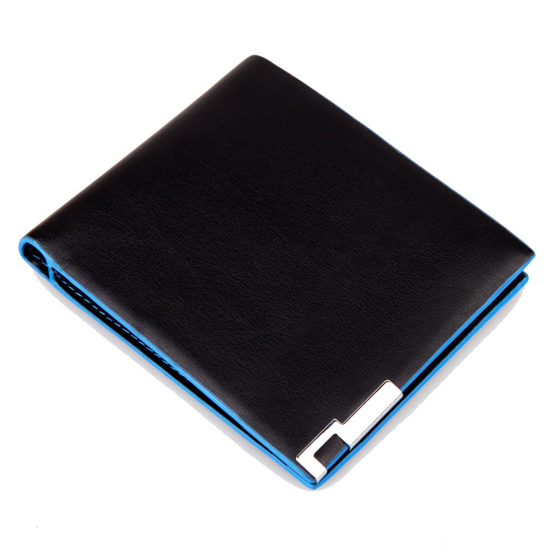 Hot Sale New Men's Wallets Quality Soft PU Casual Short Style Black Color 1 Photo Bit ID Card Holder