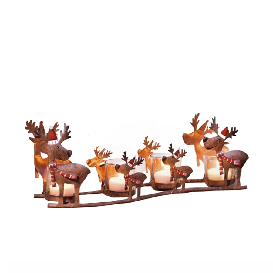 Candelero de Metal para velas, candelero decoración navideña, candelabro para centros de mesa Moro, candelero para velas de té