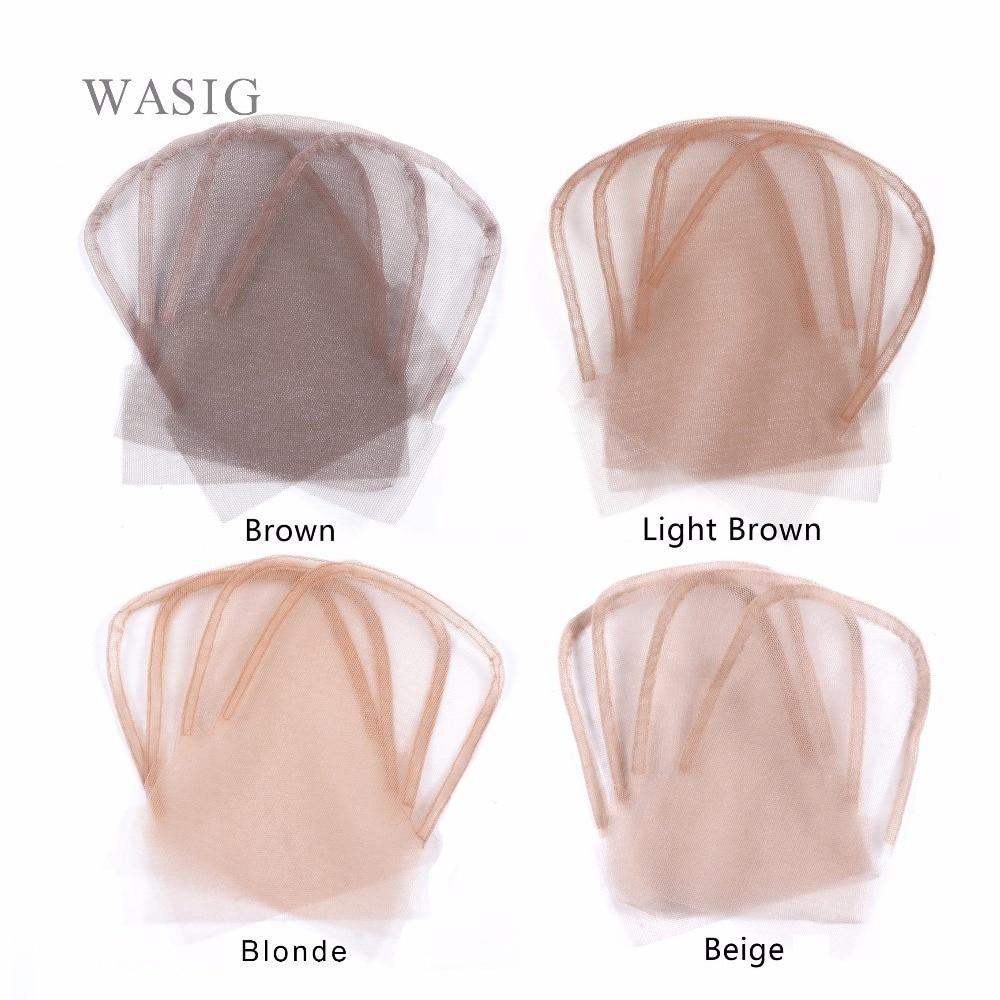Кружевные накладки на голову 4x4 дюйма коричневого цвета, швейцарские накладки на волосы для изготовления париков, 6 шт./лот