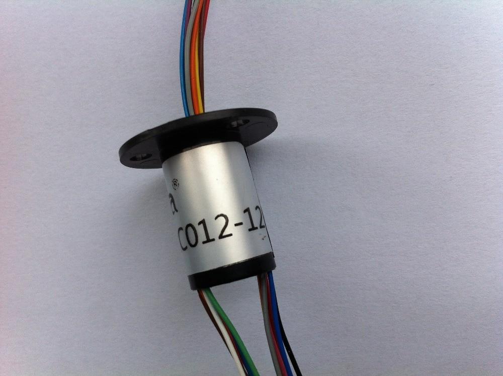 10 قطعة كبسولة زلة حلقة موصل 12 مللي متر 6 الدوائر * 2A 6 الموصلات كبسولة زلة حلقة 220 فولت التيار المتناوب 250 دورة في الدقيقة