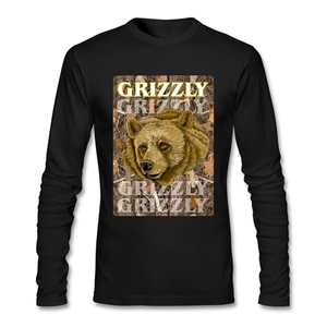 Cheap Price Grizzly Tee Male Crewneck Movie T Shirts Normal Full Sleeve Men's T Shirts