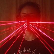 Masque Laser rouge à éclairage rouge   Livraison gratuite, masques de fête danniversaire sur scène, batterie rechargeable