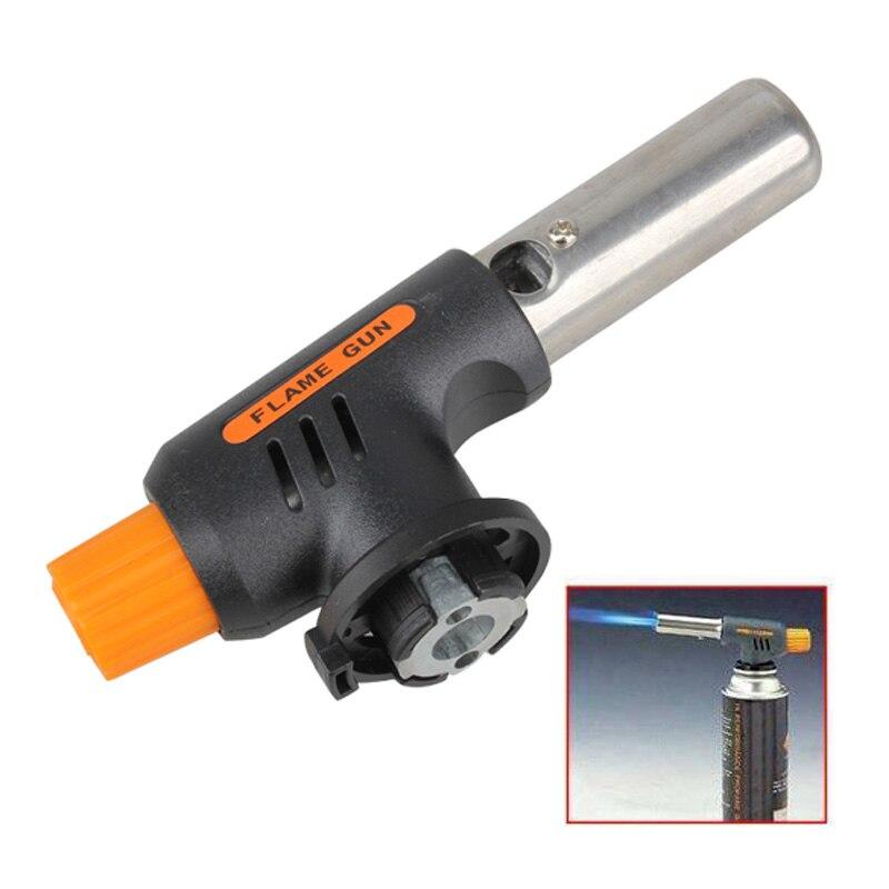 Ignición electrónica llama Butan Gas quemadores arma fabricante antorcha encendedor para exterior Camping Picnic barbacoa equipo de soldadura