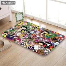 Custom Tokidoki Doormat Floor/Bath/Kitchen/Beach Mat Flannel Sponge Fabric 3D Printed Shaggy Decoration For Bedroom