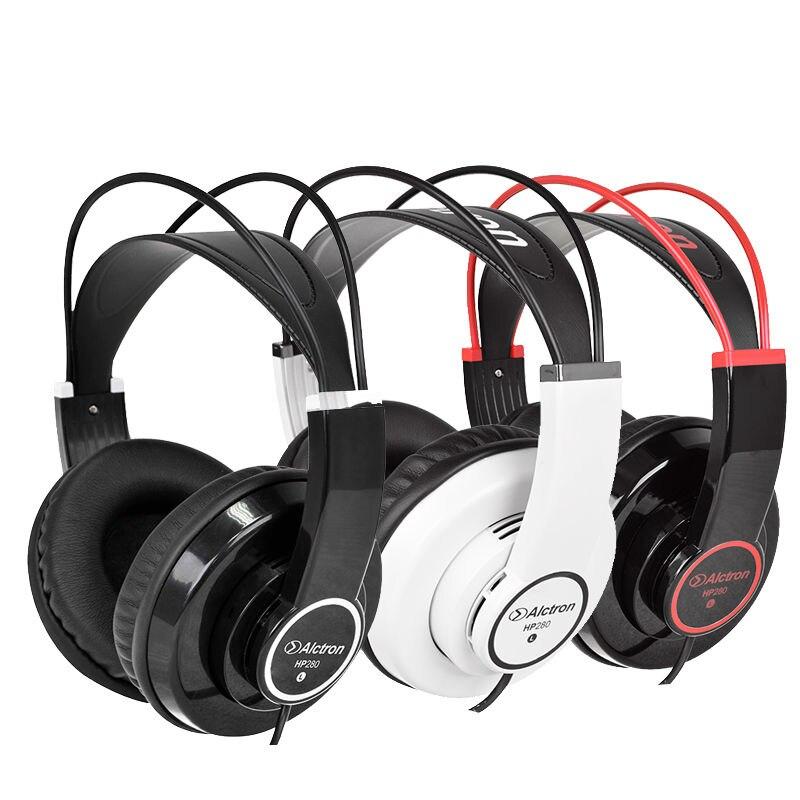 Alctron HP280 auriculares de Monitor profesional, auriculares de estudio para dj, estéreo Hifi, auriculares de música portátiles y a la moda