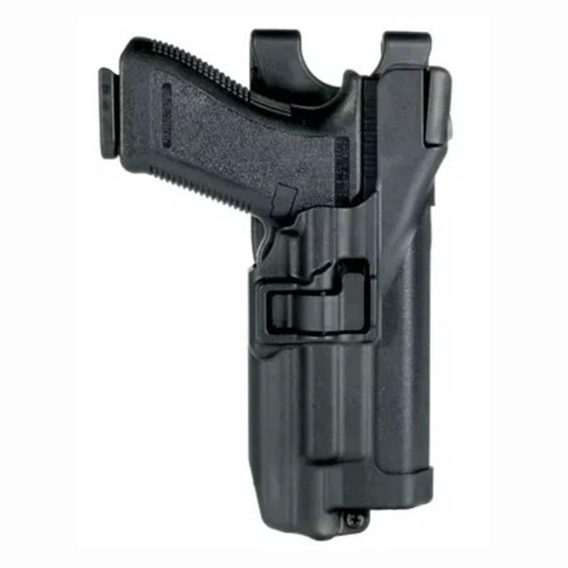 Accesorios para pistola de caza, funda para pistola Airsoft cinturón apta para Glock 17 19 22 23 31 32 con linterna, funda táctica de revólver