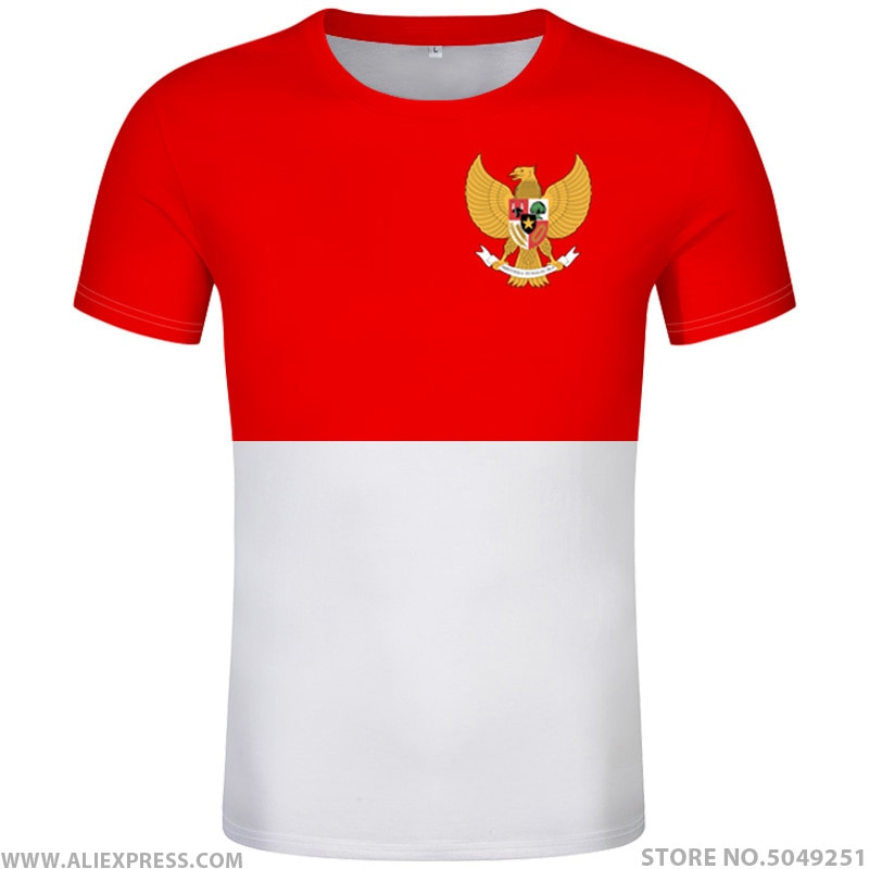 INDONESIEN t hemd diy freies nach maß name anzahl idn t-shirt nation flagge id land republik indonesischen druck foto 0 kleidung
