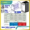 3.6RT/12.5KW AISI 304 paslanmaz çelik PHE çalışıyor olarak evaporatör su soğutucu çeşitli soğutma sistemi sanayi