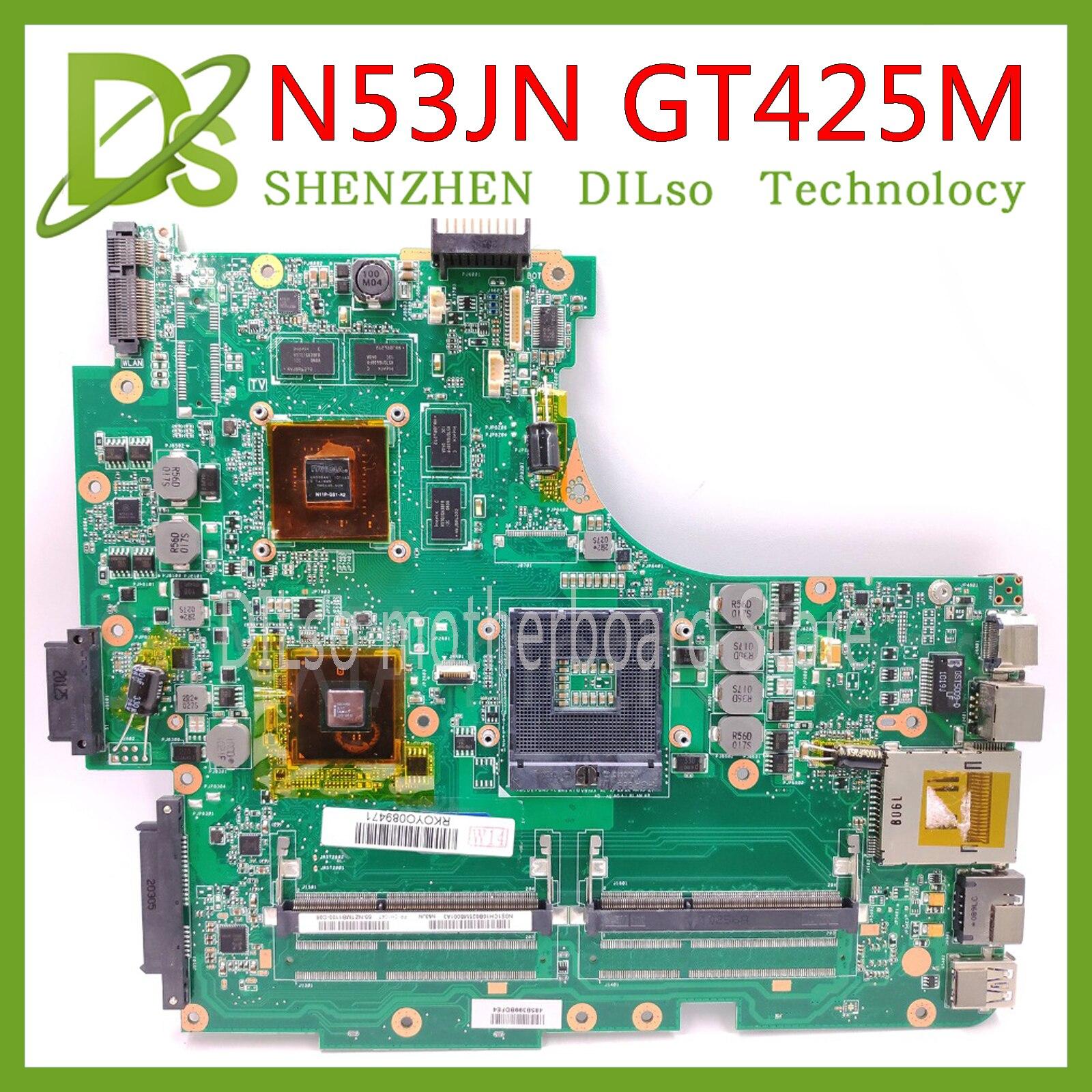 Mainboard KEFU N53JN para ASUS N53JQ N53J N53JN N53JF placa madre portátil GT425M prueba trabajo 100% original