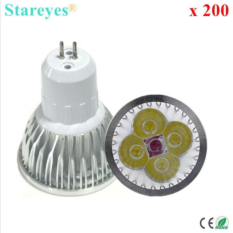 Free shipping 200 pcs Dimmable 4W 3W GU5.3 MR16 GU10 E27 B22 E14 High Power LED Spotlight Downlight lamp droplight bulb light