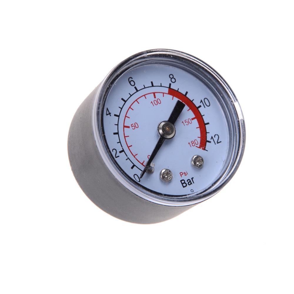 1PCS Air Compressor Pneumatic Hydraulic Fluid Pressure Gauge 0-12Bar / 0-180PSI
