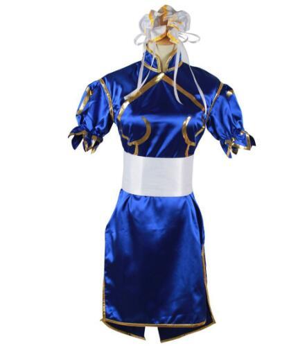 Костюмы на Хэллоуин, одежда для аниме, Chun Li, карнавальный костюм для девочек, нарядное платье, игровой костюм, Cheongsam