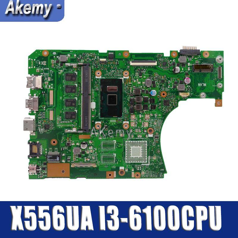 X556UA/X556UJ I3-6100CPU con 4GB DDR3L memoria placa madre para For Asus X556UA X556UJ X556U X556UB placa base de computadora portátil prueba trabajo