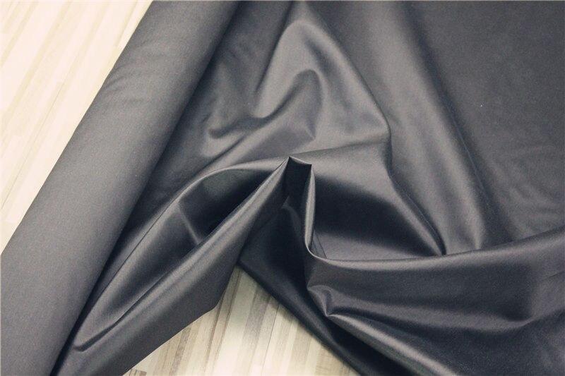 100% tela de seda DUPIONI para ropa de cama, color: negro-café, anchura: 114 cm, grosor: 17mm, venta por 3 m, #25