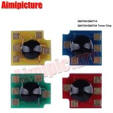 Q6470A Q6471A Q6472A Q6473A Cartouche De Toner Puce 6470a 6471a 6472a 6473a pour HP 3600 3800 CP3505 3505n puce 10 ensembles 40 pcs/lot