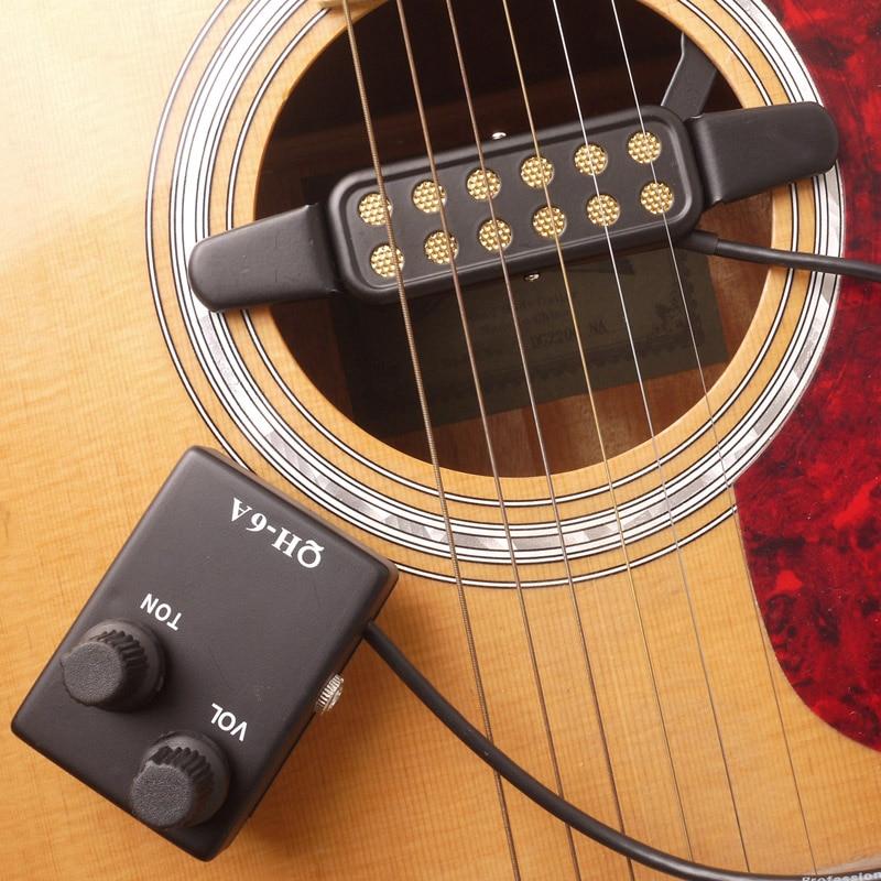 Guitarra acústica som buraco captador magnético preamp eq equalizador tuner QH-6A captador pick up para som buraco novo