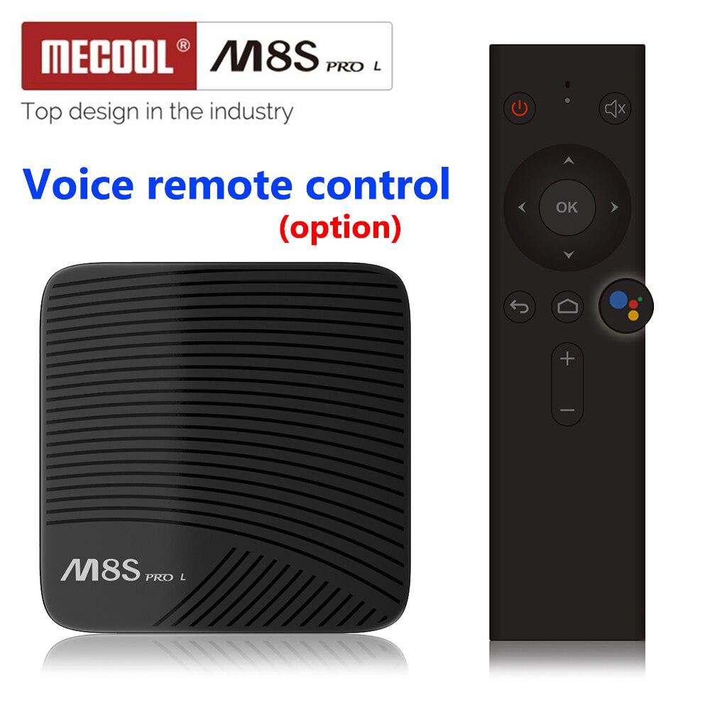 MECOOL M8S PRO L Android 7,1 Amlogic S912 TV BOX Octa Core 4 K de Netflix HD WIFI Bluetooth control remoto por voz control inteligente de TVBOX cajas