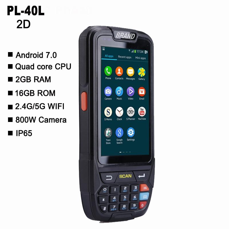 PL-40L المحمولة أندرويد محطة البيانات اللاسلكية أعلى جودة 2d qr رمز الباركود الماسح الضوئي المحمولة
