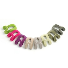 5pcs/set!!! Velvet Hanger Clips Mini Flocking Cloth Hanger Hooks Cloth Wardrobe Hooks For Home Storage Closet Organizer