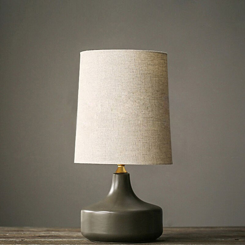 Lámparas de Mesa nórdicas simples Grises Modernas para sala de estar lámpara LED para la cama mesilla de noche Luz de mesa ligera lámparas Tafellamp dormitorio