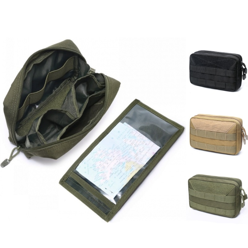 CQC Military Mini Tactical Molle Admin Pouch Utility EDC Medical Pouches Outdoor Camping Hiking Hunting Accessories Waist Bags military molle admin pouch tactical multi medical kit bag utility tool belt edc pouch for camping hiking hunting 2018