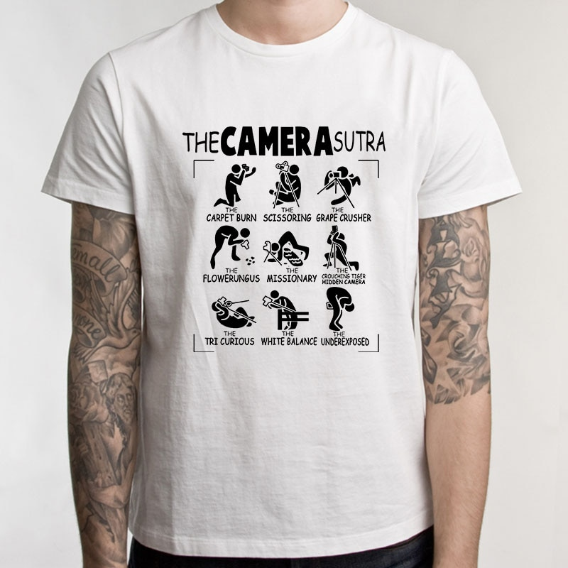 The Camera Sutra Photography Hip Hop Printed T Shirt Short Sleeve Gift T-Shirts Tshirts