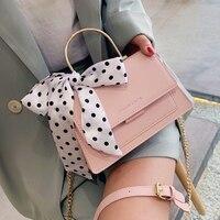 Элегантная женская сумка-тоут с бантом из ленты, Новинка лета 2021, женская дизайнерская сумка высокого качества из искусственной кожи, сумка-...